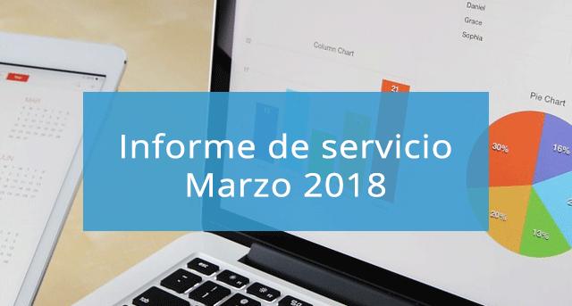 Informe de servicio Marzo 2018