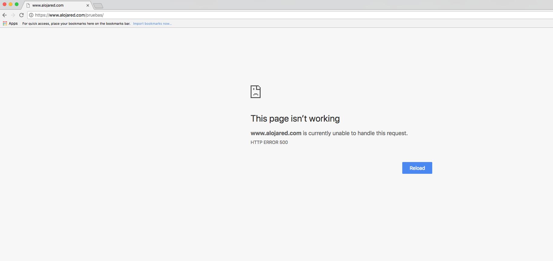Página en blanco WordPress Google Chrome