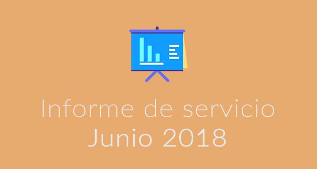 Informe de servicio Junio 2018