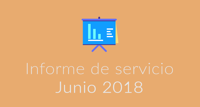 Informe servicio junio 2018 alojared