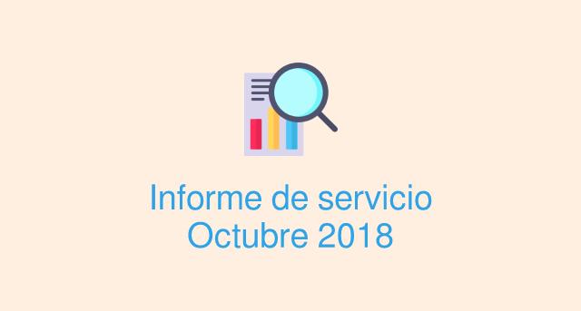 Informe servicio octubre 2018