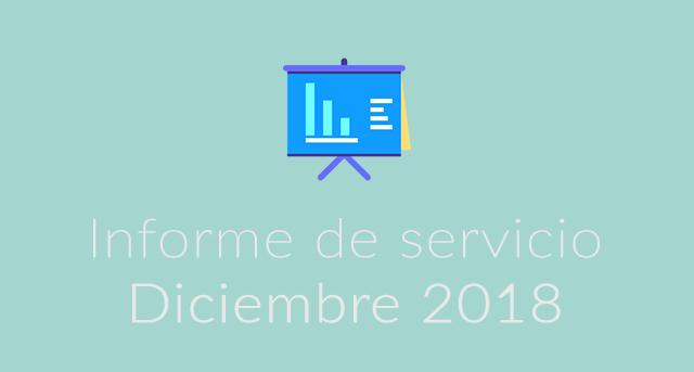 Informe de servicio diciembr 2018