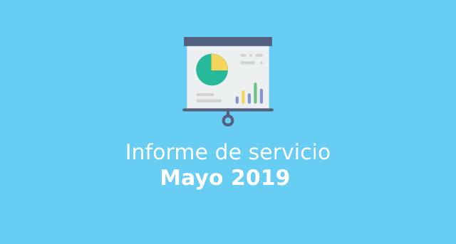 Informe de servicio Mayo 2019